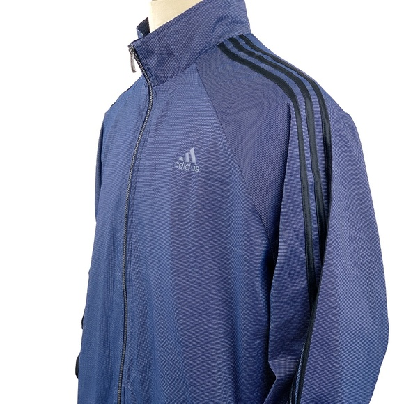adidas Other - Adidas Jacket Full Zip Tricot 3-Stripe Sleeves